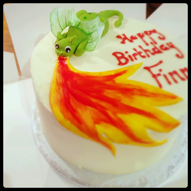 Fire Breathing Dragon Cake